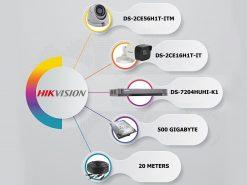 پکیج-2-دوربین-مداربسته-5-مگاپیکسل-هایک-ویژن