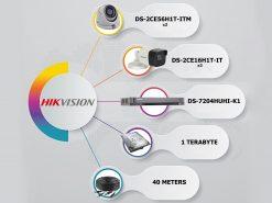 پکیج-4-دوربین-مداربسته-5-مگاپیکسل-هایک-ویژن